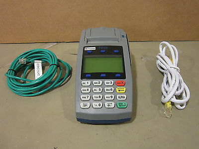 First Data FD50 Credit Card Terminal Reader w/ Cables Nice