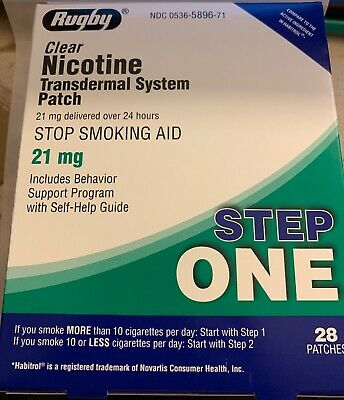 Step 1 Habitrol Transdermal Nicotine Patches 21mg 1 Box of 28 patches 09/2019