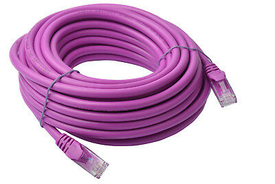 Cat 6a UTP Ethernet Network LAN Cable, Snagless - 10m Purple