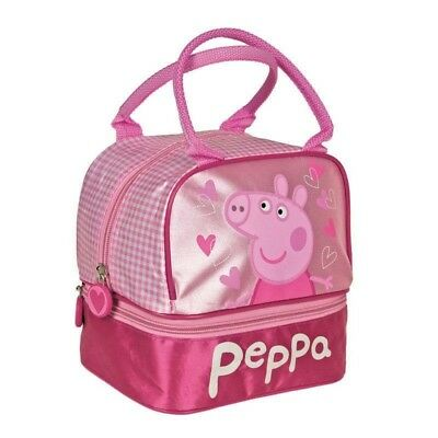 Peppa Pig Lunch Bag Accessories Bag Kindergarten Playdate Girl Baby Toddler Pink
