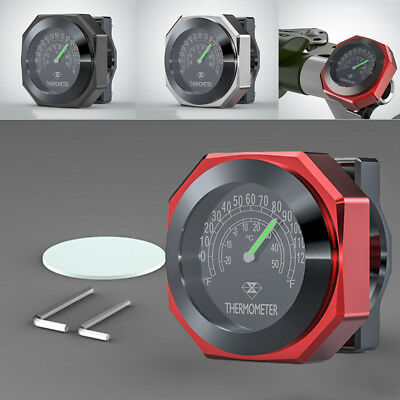 Red Motorcycle Thermometer Climate Weather Temperature Display °C & °F Analogue