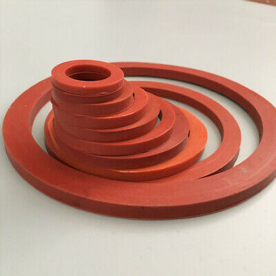 Select Size ID 65mm - 90mm VMQ Silicone O-Ring Gaskets Washer 8mm Thick