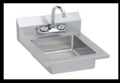 "Elkay Foodservice EHS-14 14 X 14"" Hand Sink Wall Mount with Gooseneck Faucet"