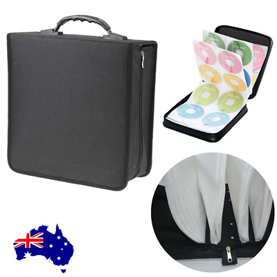 520 DVD Movie Storage Case Wallet Black Leather Folder Album DVD Sleeves