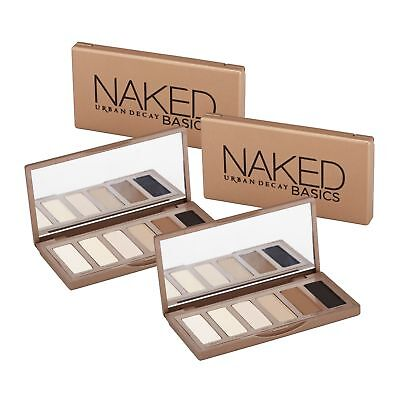 2 x Urban Decay Naked Basics Eyeshadow Palette Makeup Earth Tone Authentic