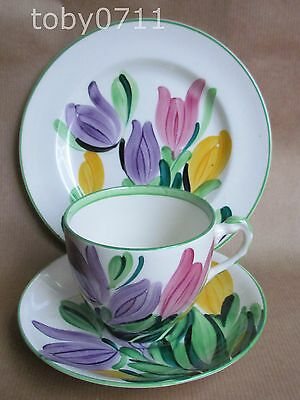 GRAY'S POTTERY HAND PAINTED CROCUS 8982 PATTERN TRIO DATE:1930 GRAYS   (Ref265)