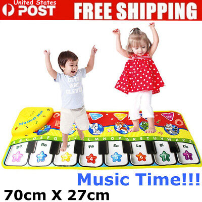 5 Mode Electronic Jump Dance Piano Keyboard Musical Touch Play Mat Kids Toy USA