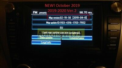 21018-2019 Ver.2 Maps and Code activation maps Toyota Touch Pro Gen.7 (11HDD)