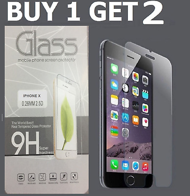 100% Genuine Tempered Glass Screen Protector Film For IPHONE X