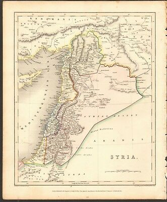 1840 ca ANTIQUE MAP - SYRIA