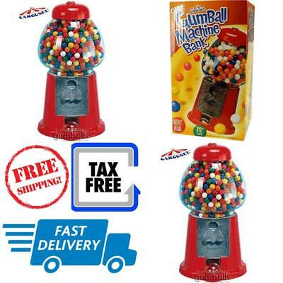 Carousel King Gumball Machine Bank Glass Globe Use with Any Coins or Spin Free