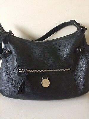 ... authentic genuine mulberry somerset tote medium black leather bag with dust  bag 78530 1bddd f4784dc330fcf