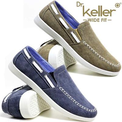 Mens New Slip On Casual Boat Deck Mocassin Wide Fit Loafers Driving Shoes Size