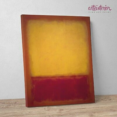 "Mark Rothko 'Yellow over Purple"" Stampa Fine Art su tela Canvas Quadro Astratto"
