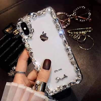 Clear Diamond Edge Luxury Popular Girl Women Soft Case Cover For Various Phones