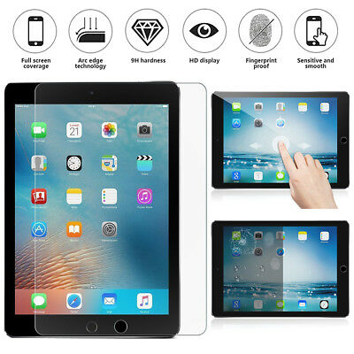 """For iPad Pro 9.7"""" 2017 10.5"""" 12.9"""" Tempered Glass Screen Protector Film Lot OBE1"""