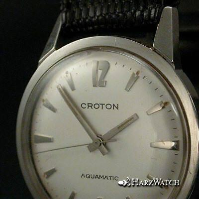 CROTON AQUAMATIC mit AS 1700 Automatic Herrenarmbanduhr Stahl 33 mm  ca. 1960