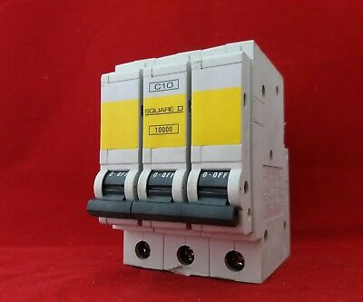 Square D Qo310Ec10 10A 10Amp C Type C10 Triple Pole Tp 3P Mcb Fuse Switch