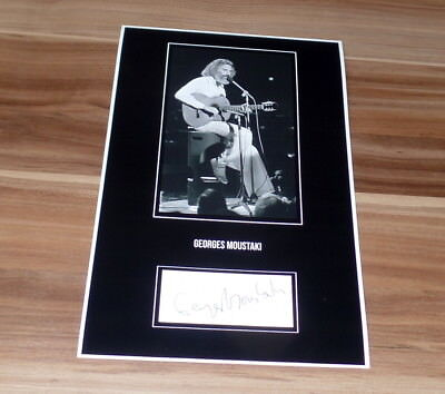 Georges Moustaki (+) *France*, original signed Collage Photo 20x30 (8x12)
