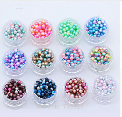 New 3-12mm ABS Imitation Round Plastic ABS Loose Beads for Necklace Bracelet DIY