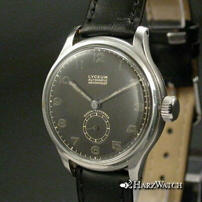 LYCEUM Automatic Waterproof Bumper  Herrenarmbanduhr Stahl 30,5 mm  ca. 1940