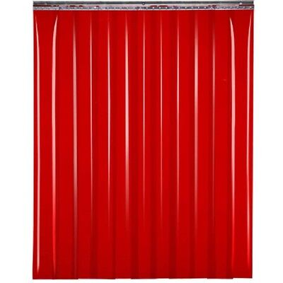"NEW! TMI Welding Strip Door 4'W x 6'H - 8"" Red Tint PVC!!"