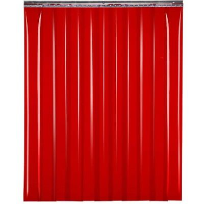 "NEW! TMI Welding Strip Door 4'W x 8'H - 8"" Red Tint PVC!!"