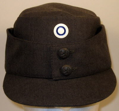 Finnish Finland Army M/65 Field Utility Dress Hat Cap Metal Enlisted Cockade Pip