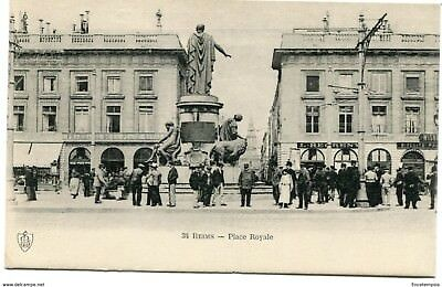 CPA - Carte postale-  France -Reims - Place Royale (CPV501)