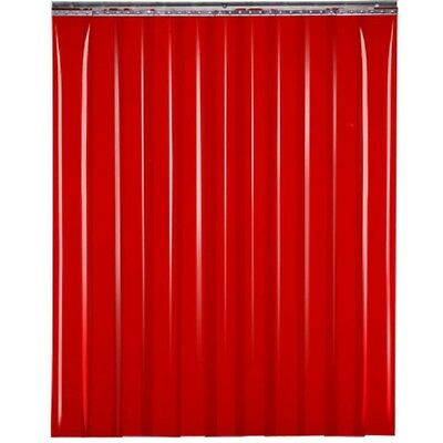"NEW! TMI Welding Strip Door 8'W x 6'H - 8"" Red Tint PVC!!"