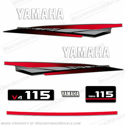YAMAHA 115HP 2-STROKE Outboard Decal Kit - two stroke decals