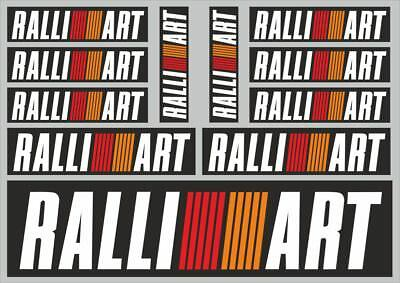 RALLIART Decals Quality Stickers Vinyl Graphic Set Logo Adhesive Kit 11 Pcs