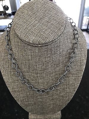 """Beautiful Vintage CAROLYN POLLACK RELIOS 18"""" STERLING SILVER Fancy Necklace"""