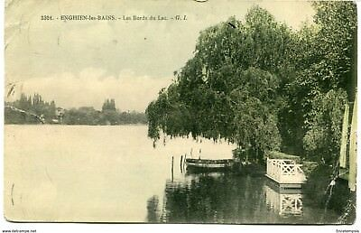 CPA - Carte postale -  FRANCE -Enghien les Bains - Les Bords du Lac -1908