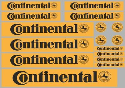 CONTINENTAL Decals Quality Stickers Vinyl Graphic Set Logo Adhesive Kit 16 Pcs 1