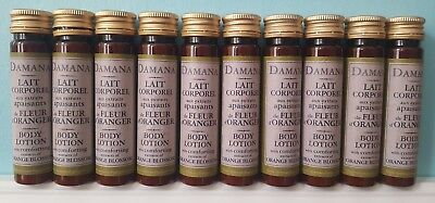 DAMANA BODY LOTION 10 x 40ml with comforting extracts of ORANGE BLOSSOM.