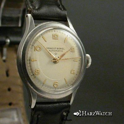 Ernest Borel Automatic  Herrenarmbanduhr Stahl 30,5 mm mit AS 1361 ca. 1950