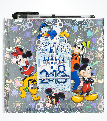 Walt Disney World 2018 Silver Autograph and Photo Book with Pen NEW SEALED