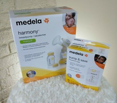 Medela Harmony Manual Breast Pump 67186, New and pump and save breast milk bags