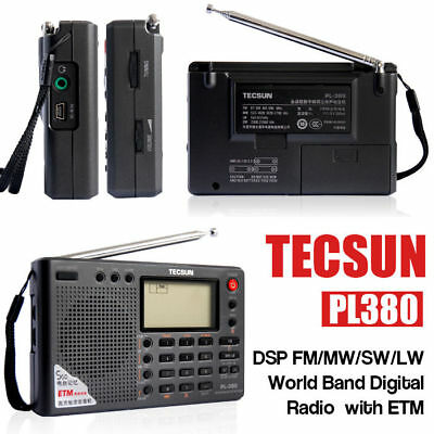 Tecsun PL380 FM Stereo/MW/SW/LW World Band Digital Radio Receiver DSP ETM UK