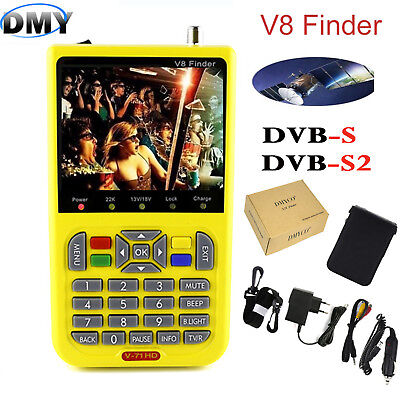 DMYCO V8 finder MPEG-4 FTA HD digital satellite Finder Meter DVB-S2 3.5 inch LCD