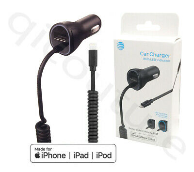 Original AT&T Apple Car charger for iPhone X  8 7 /Plus Lightning Extra USB Port