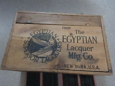 Vtg. Wooden Egyptian Lacquer Mfg. Company Crate