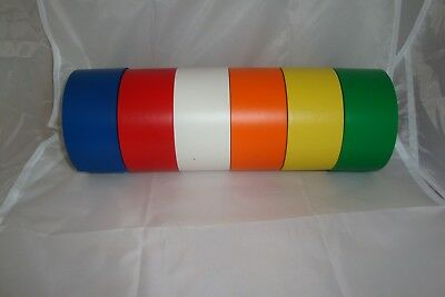 50mm x 20m Floor Marking Tapes. Various colours! Very strong Adhesive.