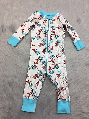 Play Condition Hanna Andersson Baby Dr Seuss Thing 1 2 Sleeper Sz 70 9-12m