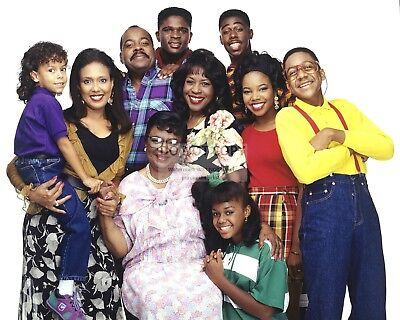 """""""family Matters"""" Cast From The Tv Sitcom - 8X10 Publicity Photo (Ab859)"""