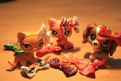 LPS littlest pet shop 1pcs bow handmade dog cat doll accesories free shipping