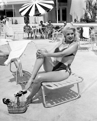 JAYNE MANSFIELD ACTRESS AND SEX-SYMBOL 8X10 PUBLICITY PHOTO AB865