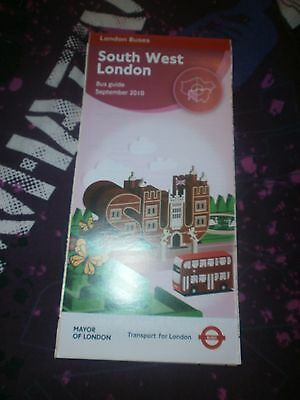 LONDON TRANSPORT South West London Bus Map September 2010 100