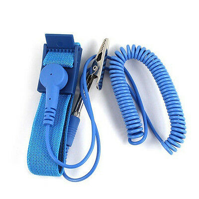 BU_ Grounding Anti Static ESD Strap Discharge Band Prevent Static Shock Kit Blue